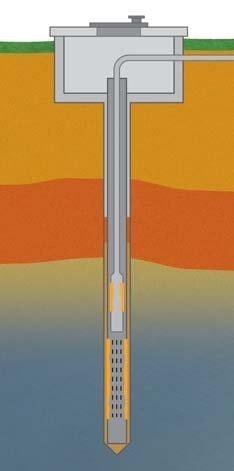 Abbildung E: Verkrustungen im Bereich des Brunnenfilters und der Pumpe