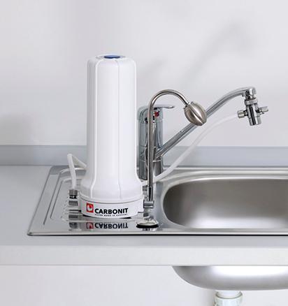 Carbonit Wasserfilter Sanuno Auftisch Wasserfilter zum Anschluss an den Wasserhahn